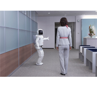 ASIMO yielding the right-of-way