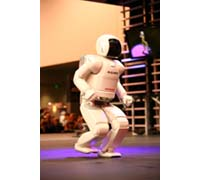 Honda's latest ASIMO humanoid robot makes North American debut at CES 2007 in Las Vegas.