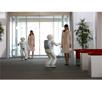 ASIMO Guiding Visitors