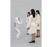 ASIMO Listening to 3 People
