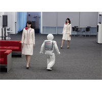 ASIMO Walks Through People