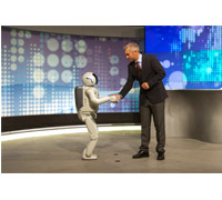 "ASIMO Meets Zoran Stanojevic at the ""Days of Future: Robotics"" festival in Serbia"