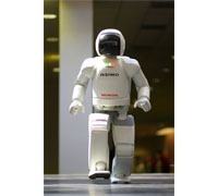 Honda's humanoid robot ASIMO makes its first appearance at the FIRST Championship in St. Louis, Mo.