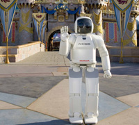 ASIMO, the world's most advanced humanoid robot, in its new home ... the happiest place on earth!