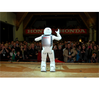 ASIMO traveled to Switzerland for the sixth time in six years to attend the Festival International de Ballons, which attracted over 60,000 visitors.