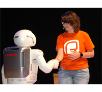 ASIMO with Show Host