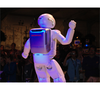 ASIMO and audience