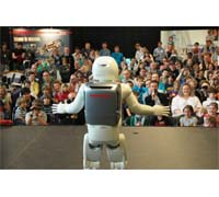 ASIMO was brought face to face with budding local scientists and engineers at the Flemish regional heat of RoboCup Junior.