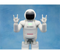 "ASIMO signs ""I Love You."""