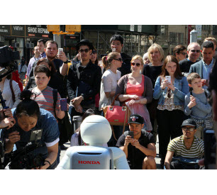 ASIMO greets the crowd at Madison Square Park
