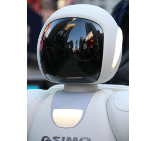 ASIMO looking at Times Square