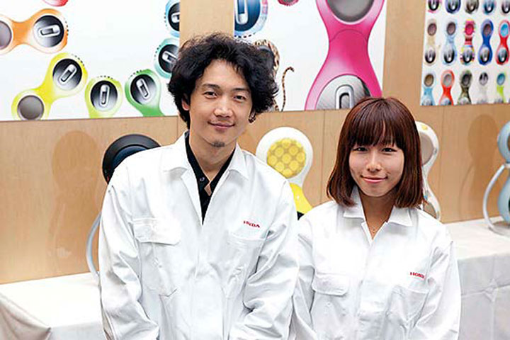 Shin Joon Heon (left) and Sawa Takahashi comment that working on the U3-X was a rewarding project that required different ideas and pace than regular development work.