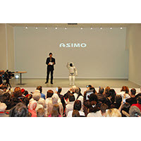 ASIMO on stage in Geneva